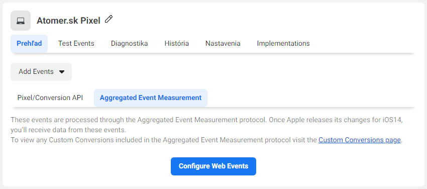 Pixel Aggregated Events Measurement
