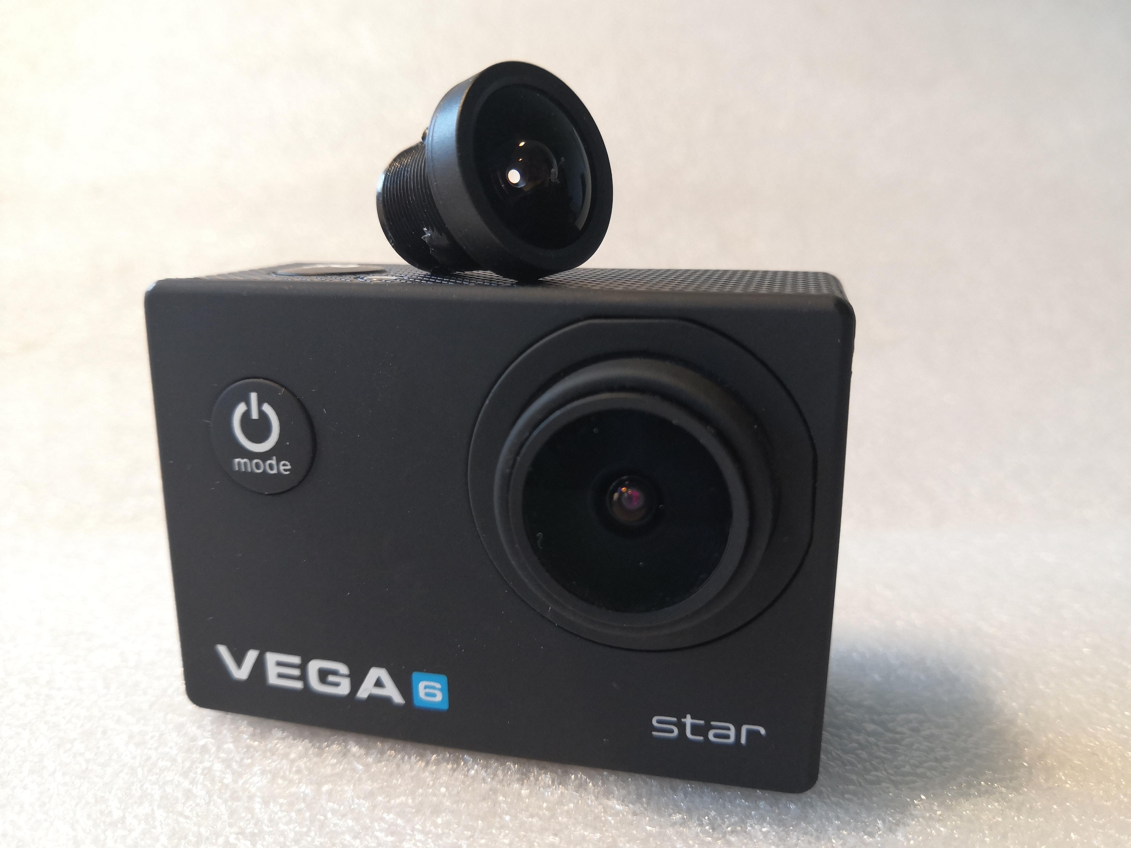 Poskrabana cocka kamera Niceboy Vega 6