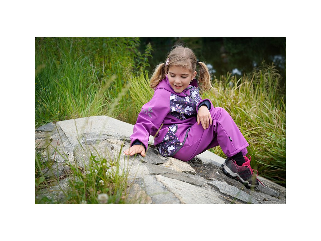 UNUO Detská softshellová bunda Jednorožec