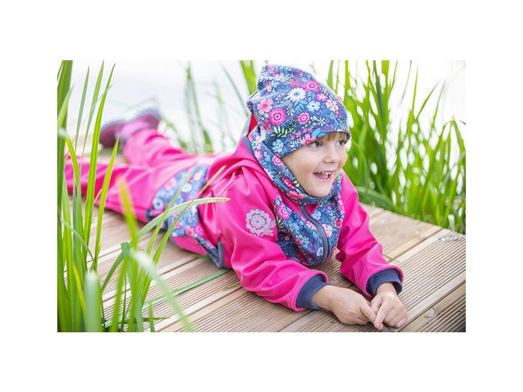 UNUO Detská softshellová bunda s flísom