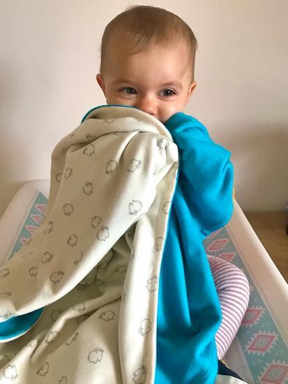 Detská deka merino vlna