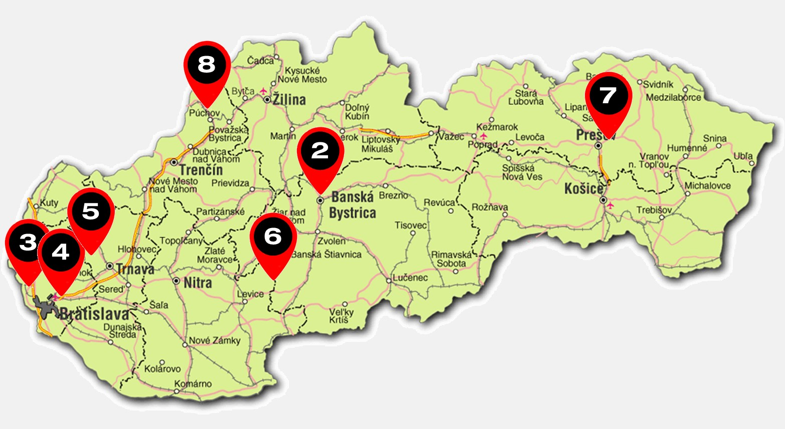 RAPOTR mapa Slovenska