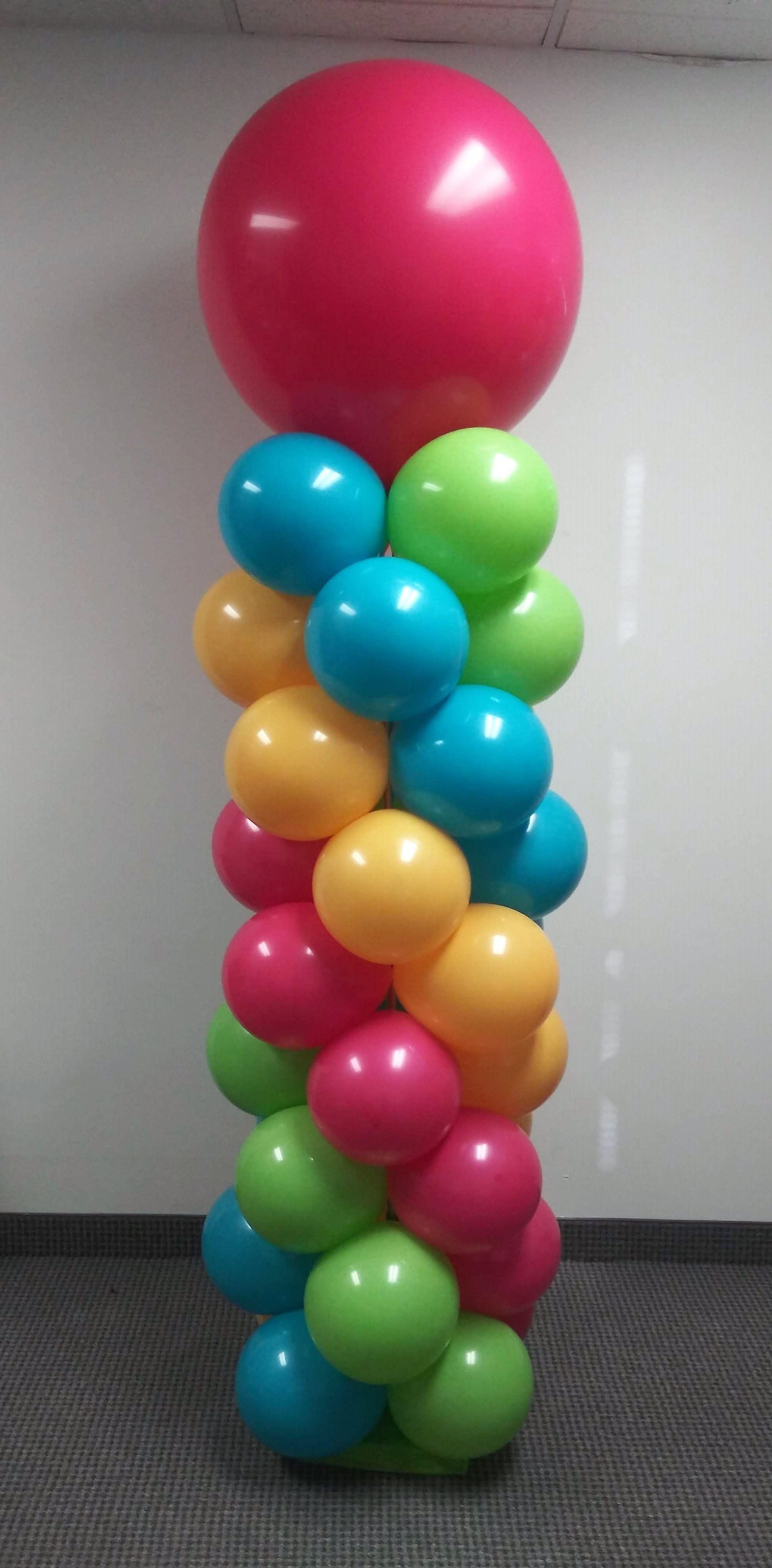 balónová výzdoba bez hélia