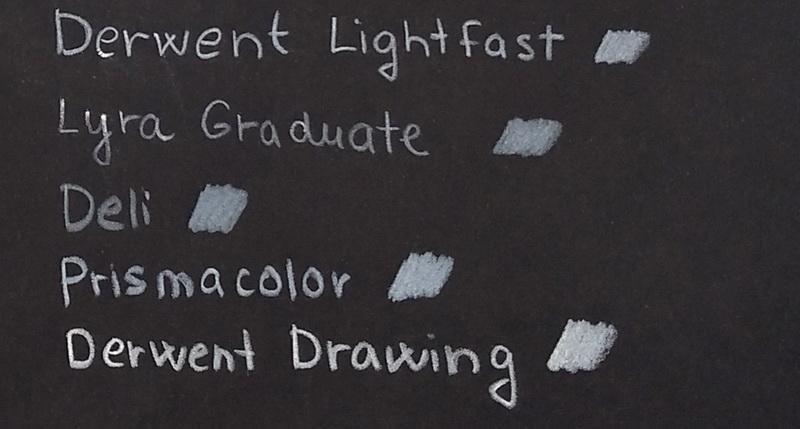 Pastelky na černém Graduate skicáku