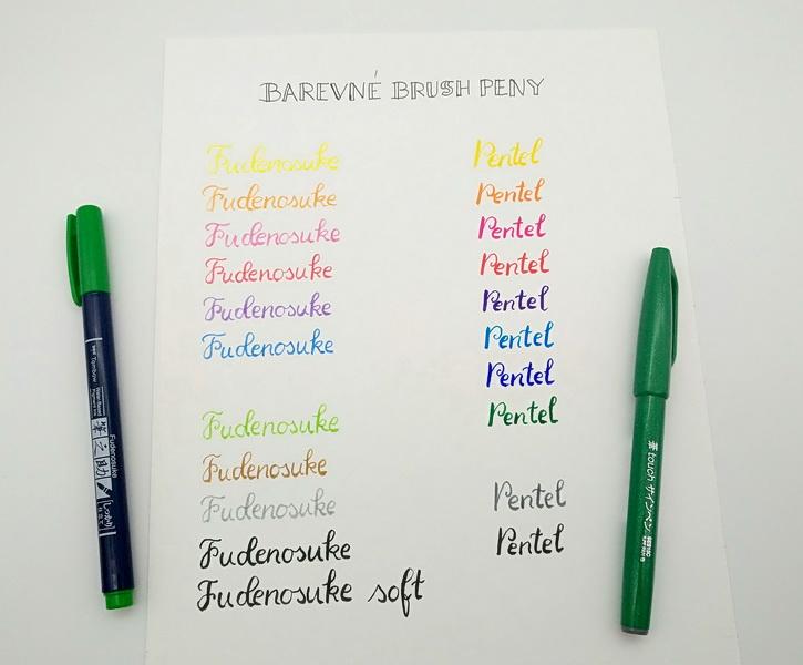 Vzorník barevných Brush penů