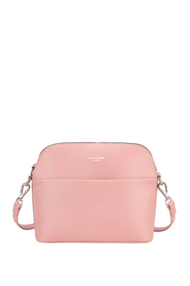 Príklad ružovej pastelovej top trendy kabelky od David Jones