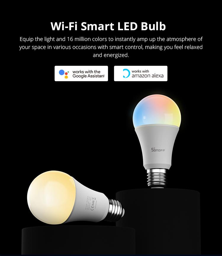 Sonoff B05-B-A60 - inteligentná wifi žiarovka