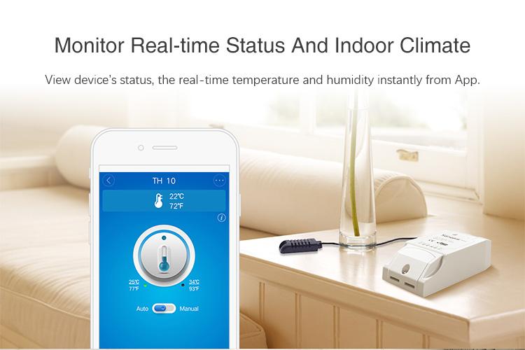 Sonoff TH10 (10A) - WiFi Spínač s Meraním Teploty a Vlhkosti
