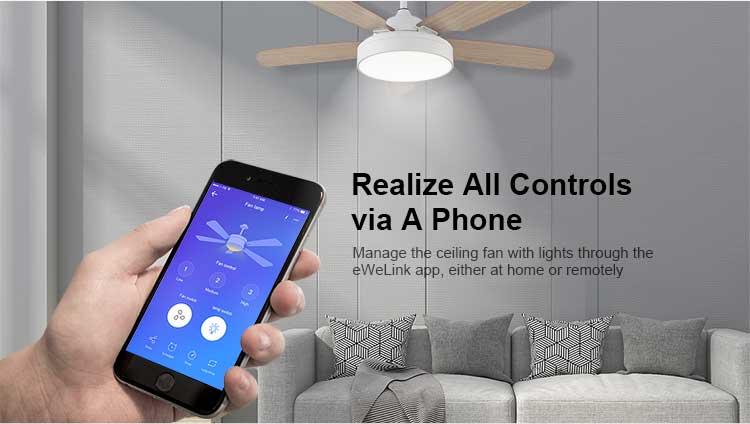 Sonoff IFan03 WiFi inteligentný stropný ventilátor s osvetlením