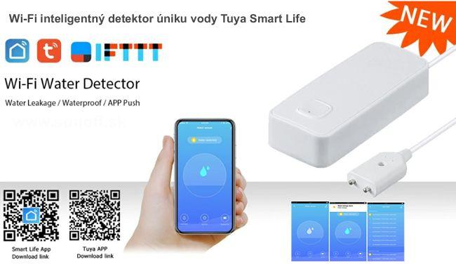 WiFi inteligentný detektor úniku vody Tuya Smart Life
