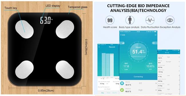 WiFi Smart osobná váha, digitálna diagnostická - Tuya Smart