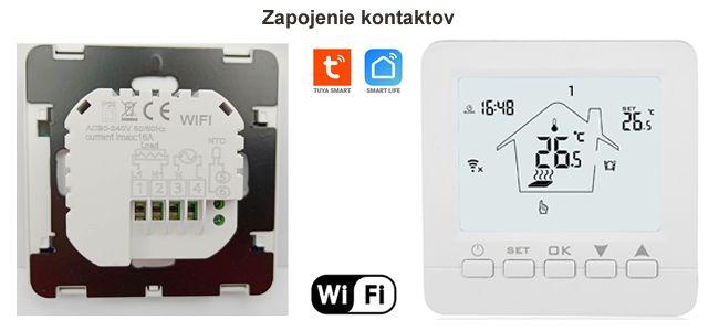 WiFi inteligentný Termostat 16A Tuya Smart Life