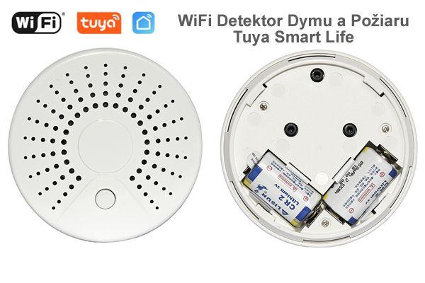 WiFi Detektor Dymu a Požiaru - Tuya Smart Life