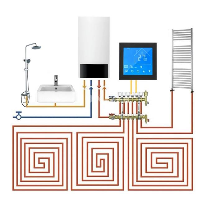 Dotykový WiFi inteligentný LCD Termostat GC eWelink app