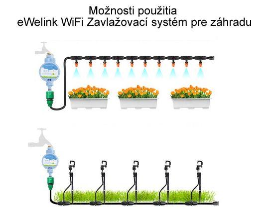 eWelink WiFi Zavlažovací systém pre záhradu