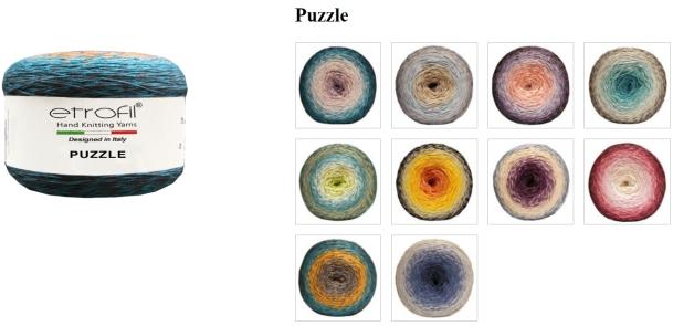 vzorník příze Puzzle