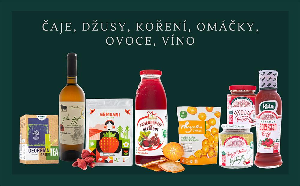 100% přírodní produkty z Gruzie