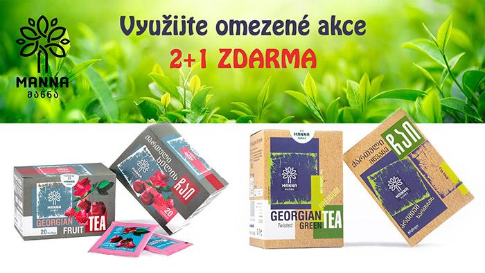 2+1 ZDARMA - vybrané čaje Manna