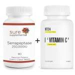 serapeptaza + vitamin c