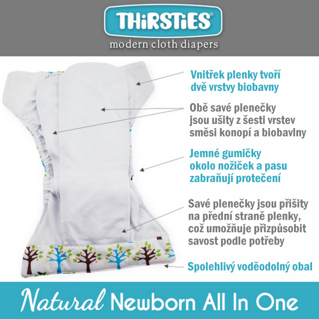 Thirsties Newborn AIO info
