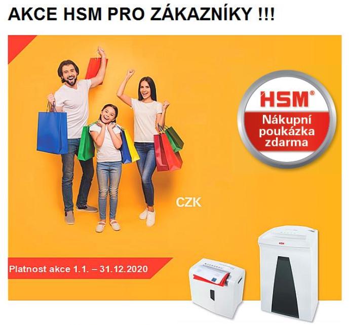 Zdarma kupon za nákup skartovaček HSM Securio