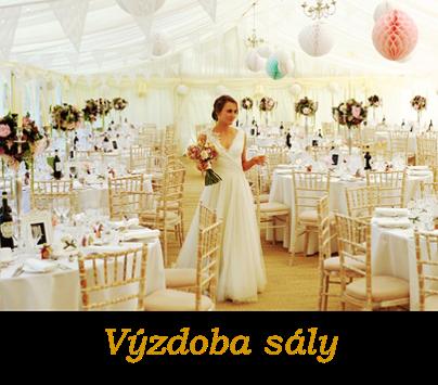 Dekorácie svadobnej sály