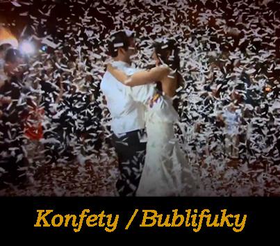 Svadobné konfety, svadobné lupene ruží, vystreľovacie konfety