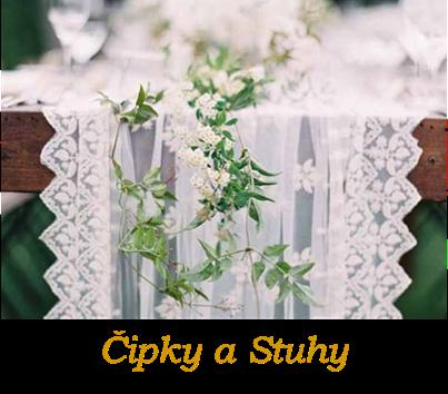 Svadobné krajky, svadobné čipky, stuhy