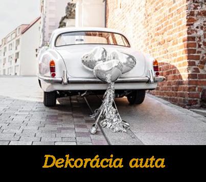 Dekorácia svadobného auta