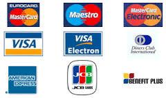 Prijímame tieto platobné karty