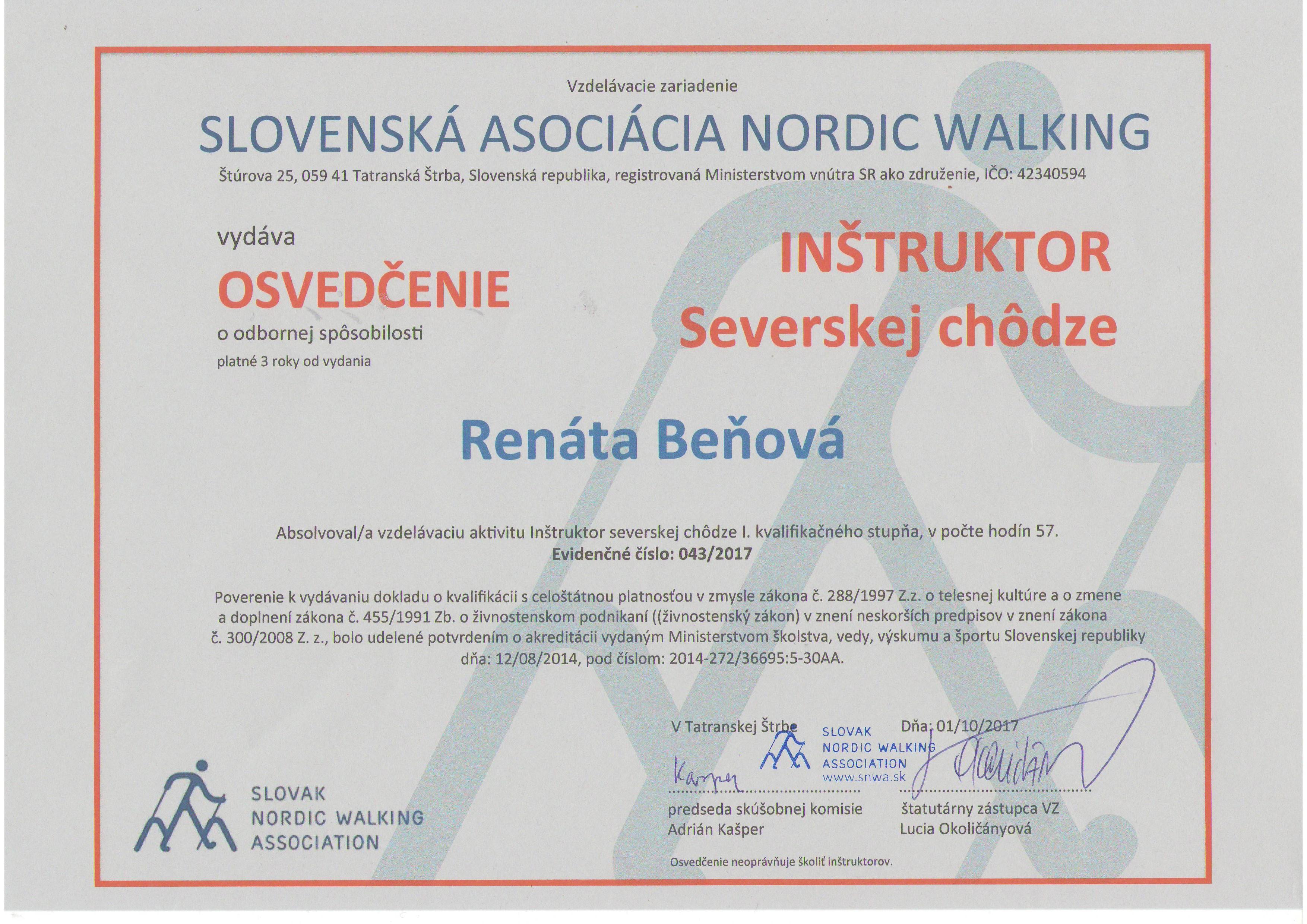 Inštruktor Severskej chôdze