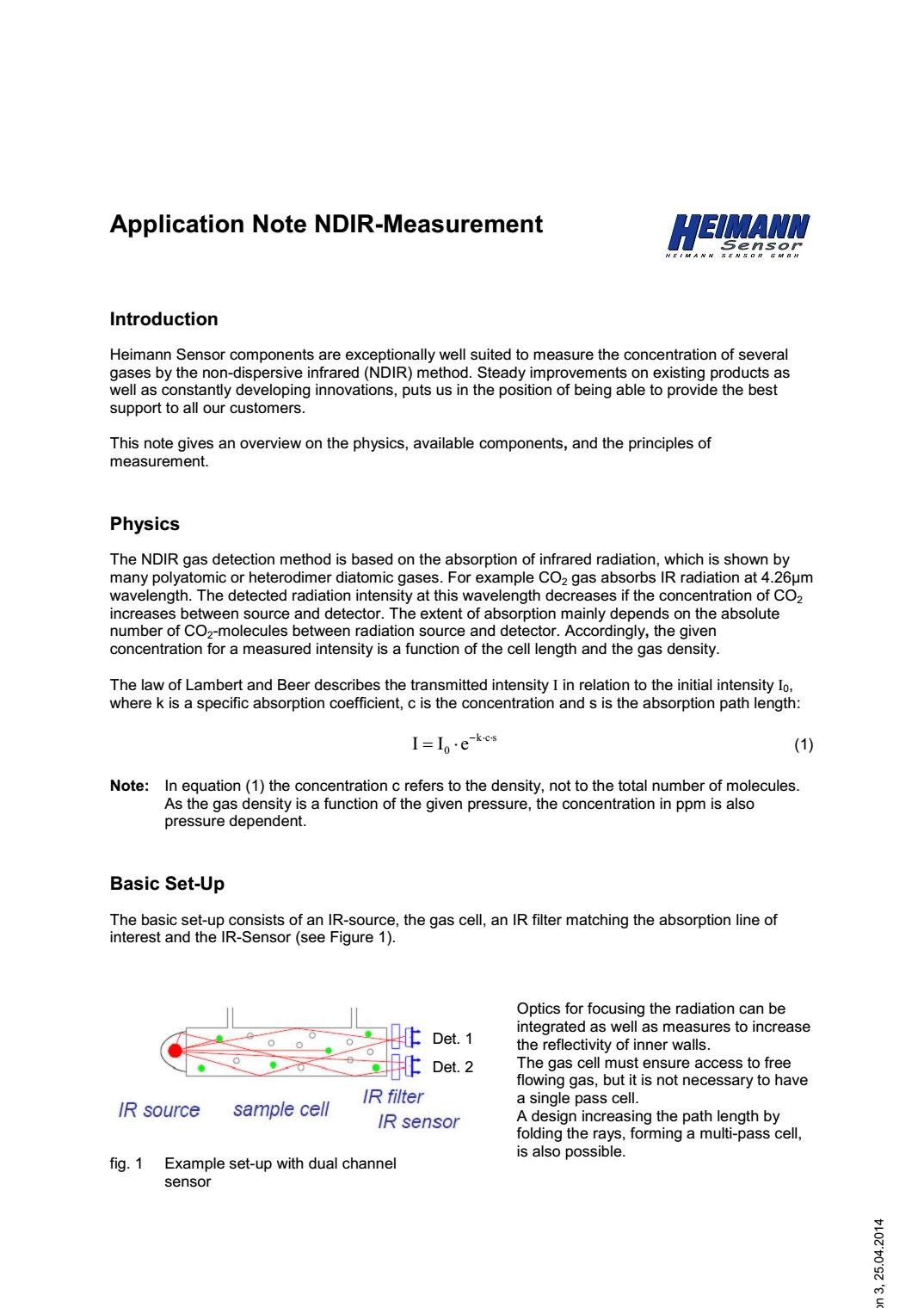 Princíp merania plynov NDIR