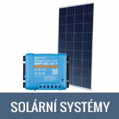 Solární systémy pro obytné vozy, karavany, vestavby