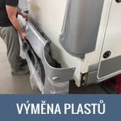 Výměna prasklých a poškozených plastových dílů na obytných vozech